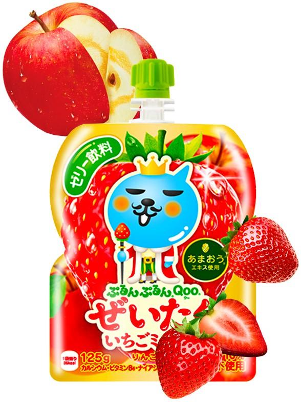 Jelly Drink de Manzana y Fresas Japonesas   Qoo 125 grs.