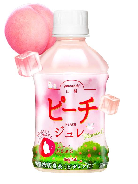 Bebida Jelly de Melocotón MOMO de Yamanashi   Agita 10 veces   275 ml