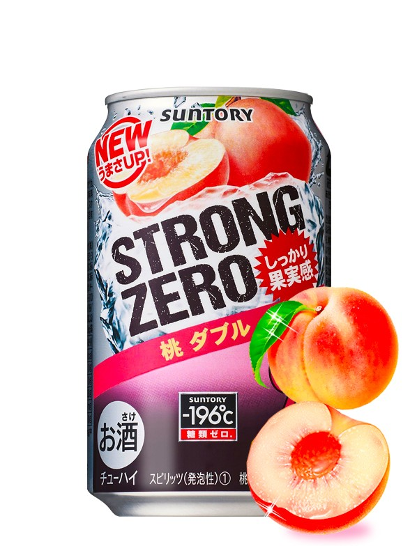 Bebida Licor Doble Melocotón | Strong Zero 350 ml