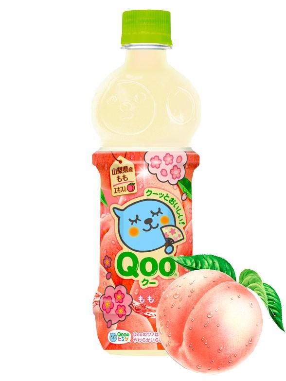 Bebida de Zumo de Melocotón Rosado Japonés | Qoo 470 ml