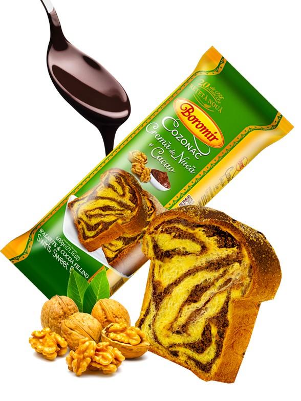 Bizcocho Marmol de Chocolate y Toppings de Nueces 400 grs