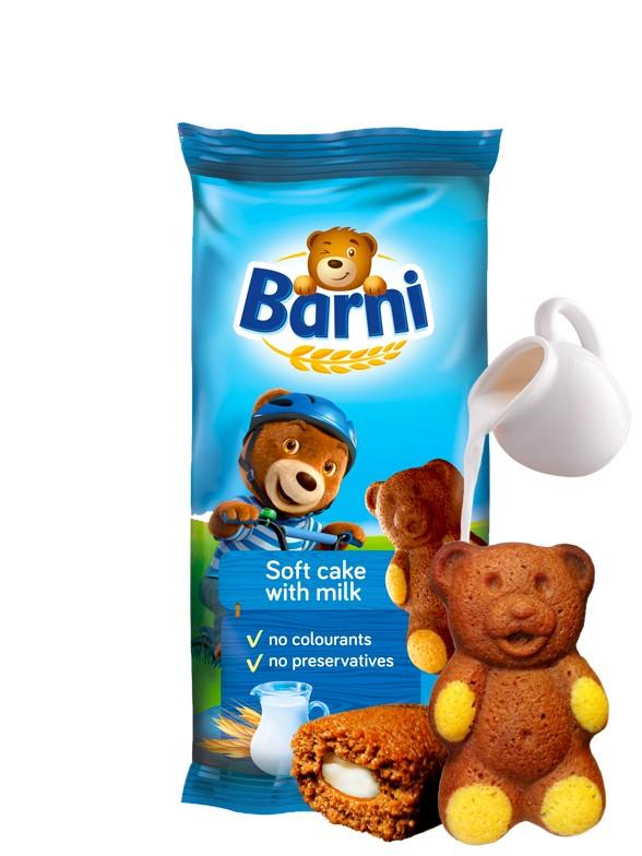 Bizcochito de Chocolate y Crema de Leche   Osito Barni 30 grs