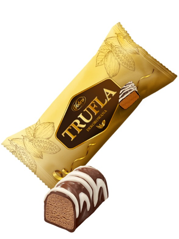 Bombon Trufado y decorado con Chocolate Blanco 30 grs.