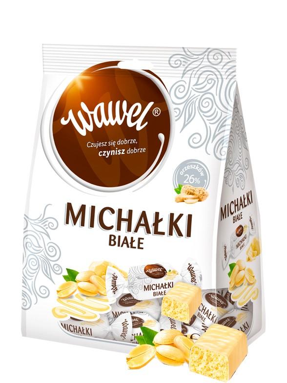 Bombones de Chocolate Blanco con Cacahuete 280 grs.