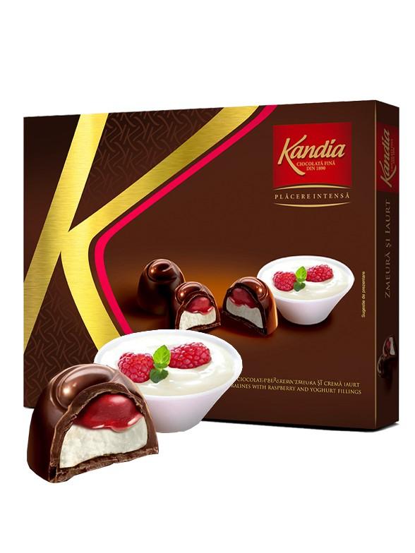 Bombones de Chocolate con Yogur y Frambuesas | Kandia 104 grs