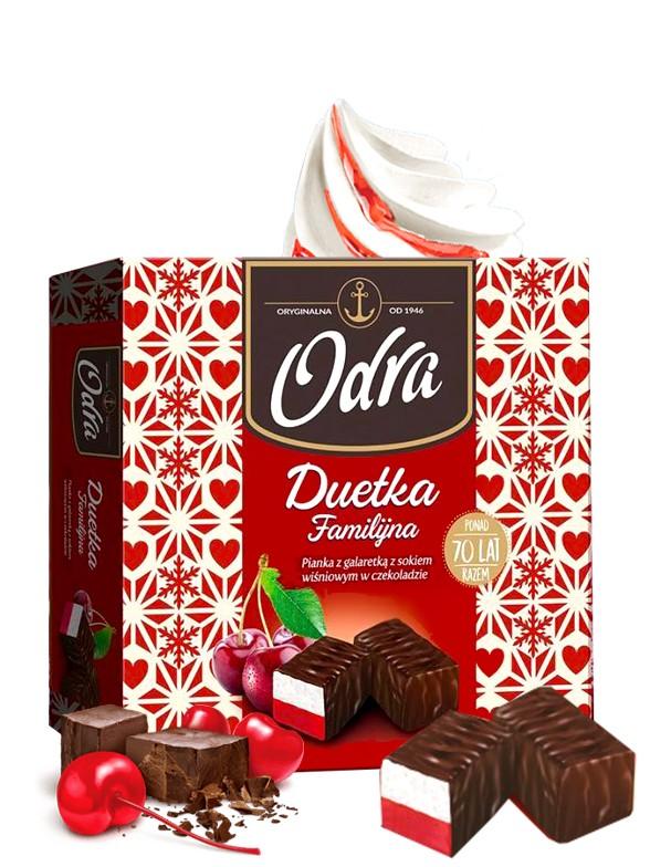 Bombones de Chocolate rellenos de Marshmallow de Vainilla y Cereza 400 grs