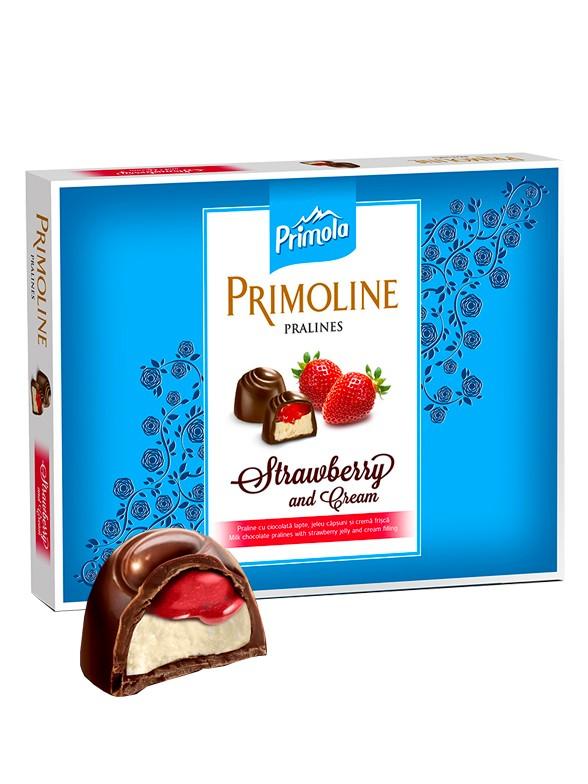 Bombones Praline de Fresa con Chocolate Blanco | Primola 14 Unidades