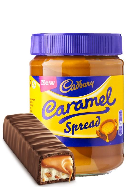 Crema para untar de Chocolate y Caramelo Cadbury 400 grs.
