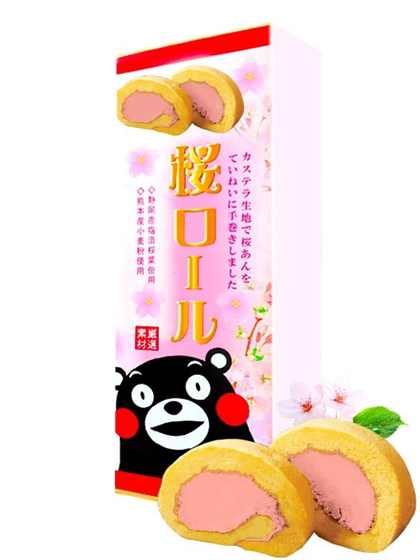 Cake Roll de Sakura | Kumamon 160 grs. | Pedido GRATIS!