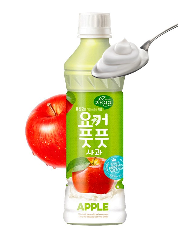Bebida Coreana de Yogur y Manzana | Estilo Calpis 340 ml.