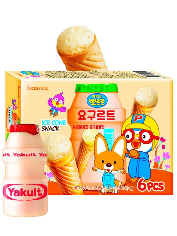 Snacks Coreanos Ice Cream Yogur Yakault  | Pororo 54 grs.