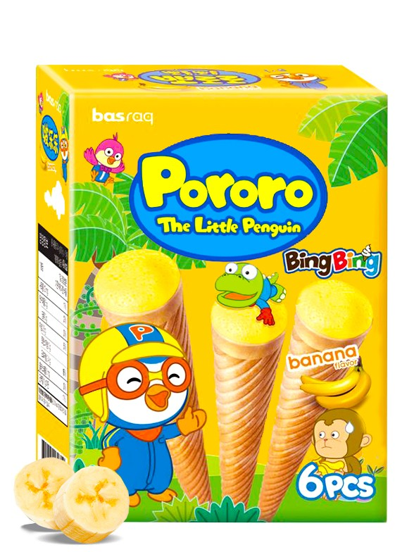 Snacks Ice Cream Plátano   Pororo 54 grs.