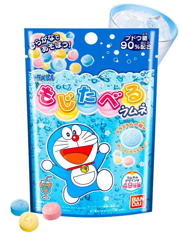 Caramelos Sabor Ramune Doraemon | Alfabeto Japonés 25 grs.