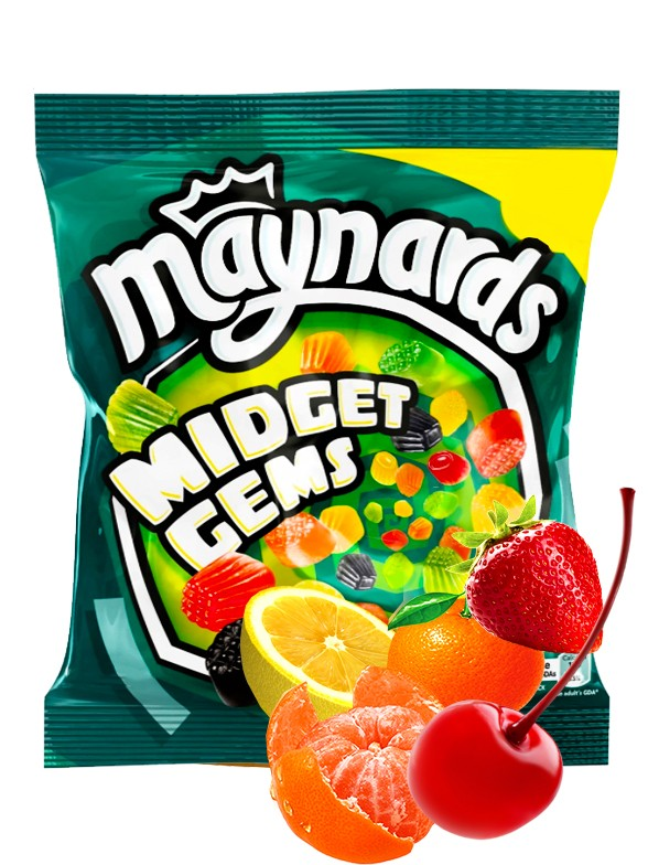 Gominolas Sabor Frutas | Maynards Midget Gems 160 grs