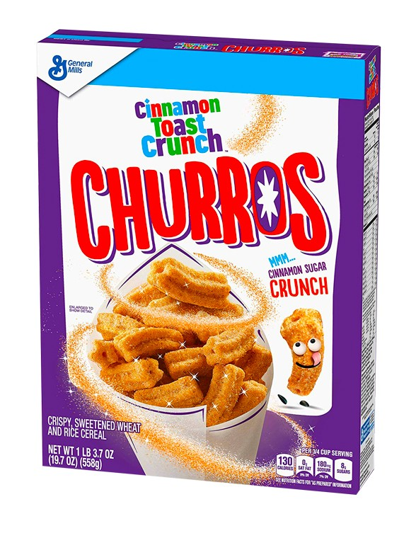 Cereales Churros Azucarados con Canela 337 grs