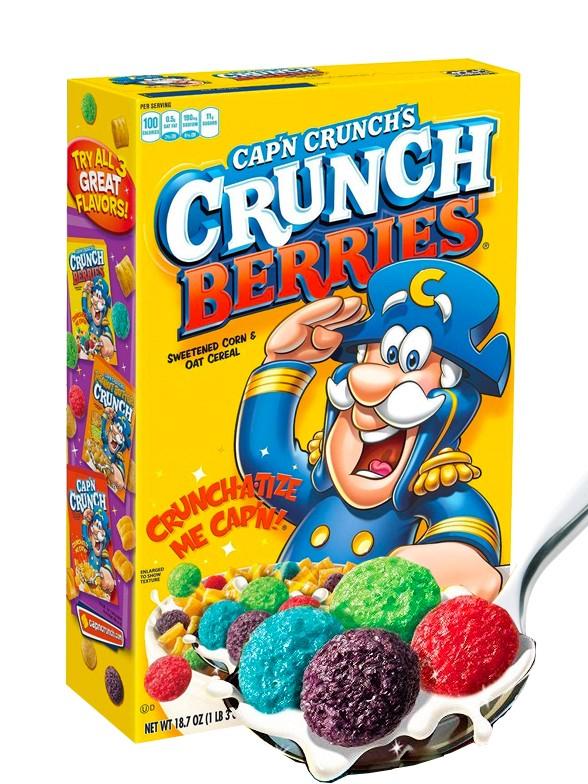 Cereales Crujientes con Puffs de Frutas del Bosque    Cap'n Crunch