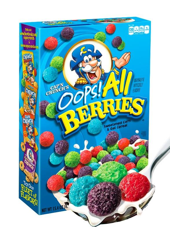 Cereales Puffs de Frutas del Bosque | Cap'n Crunch 326 grs.