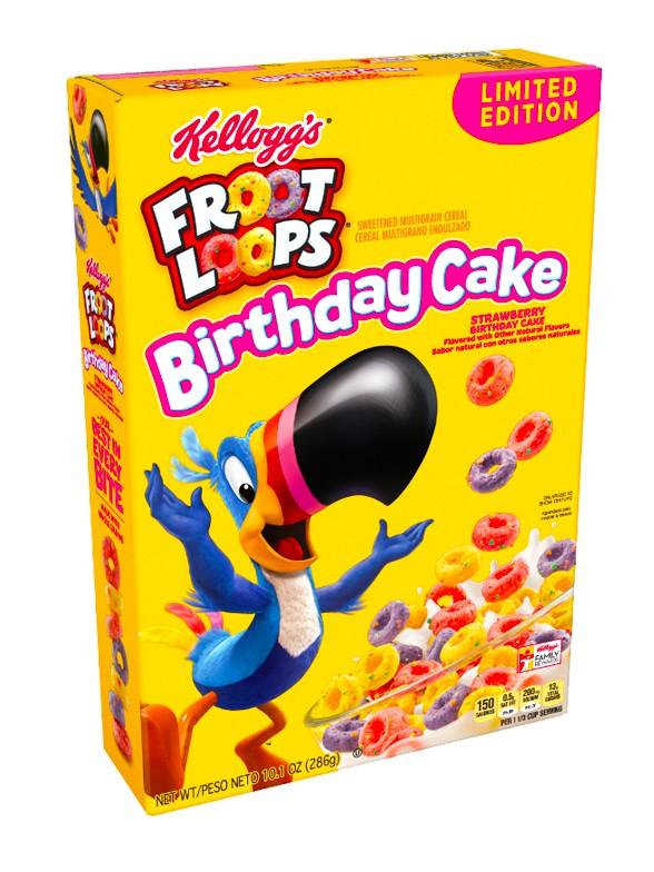 Cereales Froot Loops Tarta de Cumpleaños de Fresa | Edicion Limitada 286 gr.