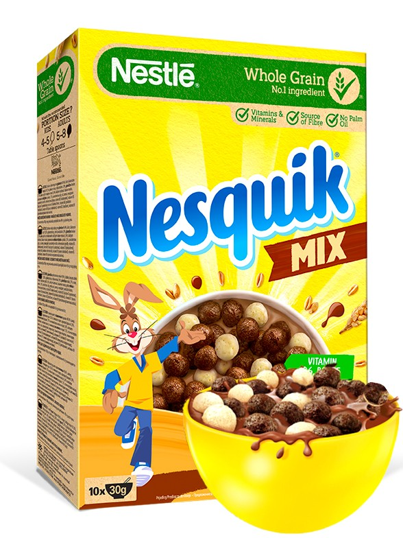 Cereales 2 Chocolates Nesquik DUO 325 grs.