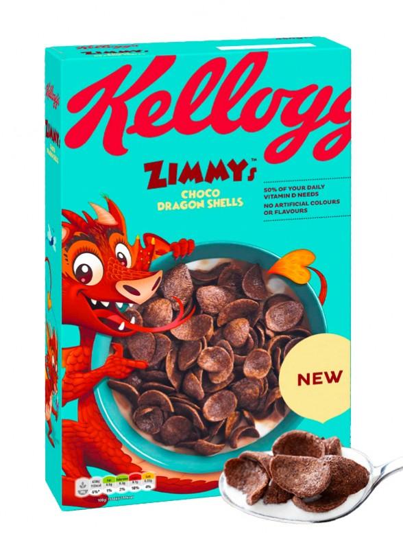 Cereales Zimmy's Escamas de Dragón | Chocolate | 450 gr.