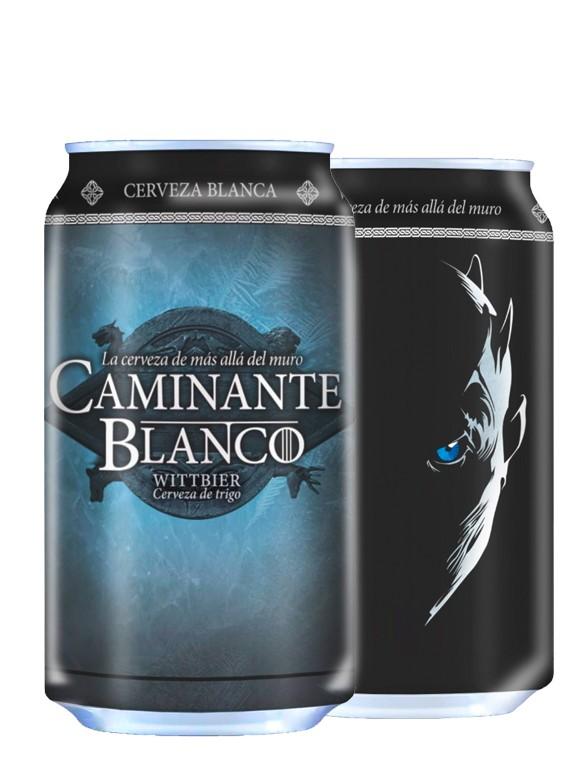Cerveza de Caminante Blanco Lata 330 ml.