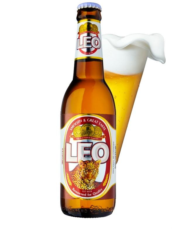 Cerveza Tailandesa LEO | Bottle 330 ml.
