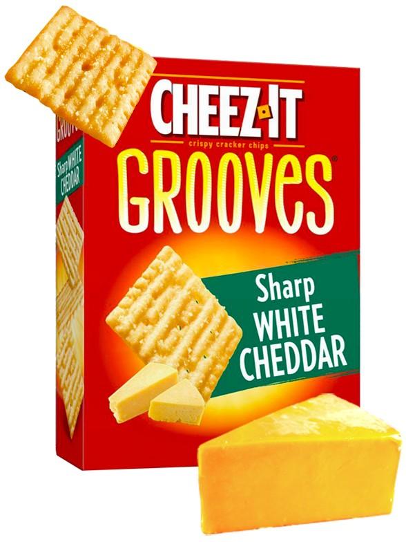 Galletitas Crujientes de Queso Cheddar Blanco | Cheez It Grooves Big Box 255 grs.