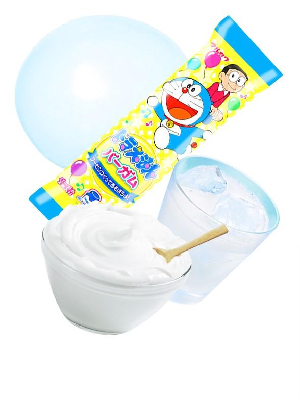 Chicle Doraemon Sabor Yogur y Refresco Ramune   2 Sticks