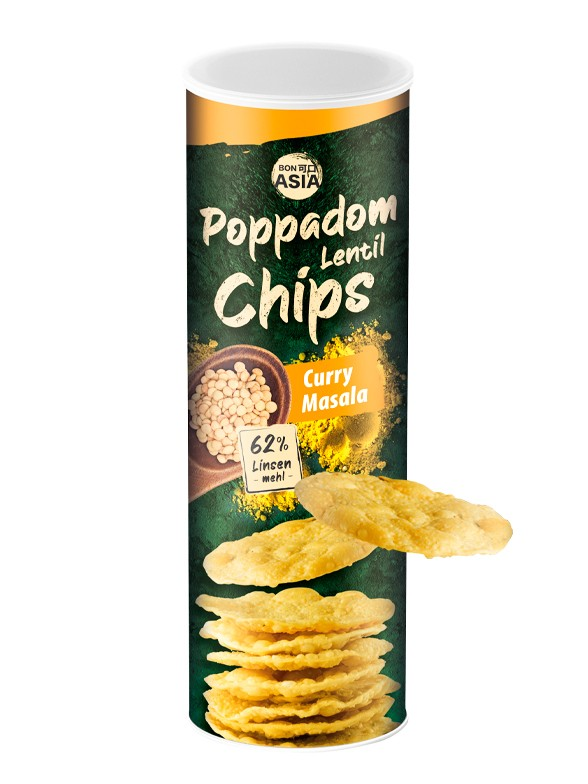 Chips de Lentejas Curry Masala 70 grs