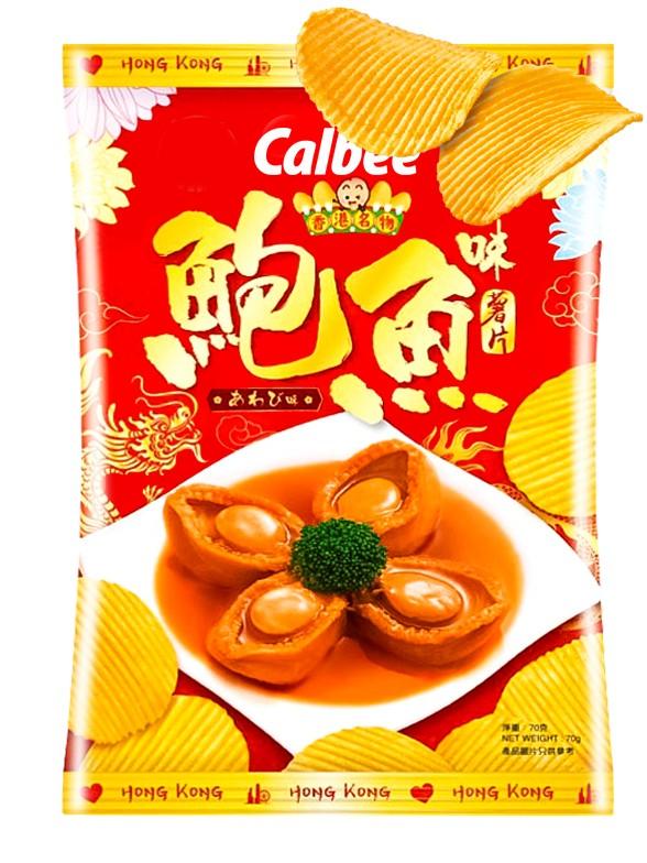 Chips Onduladas Calbee Sabor Abulón Dragon Dorado | Receta Hong Kong 70 grs.