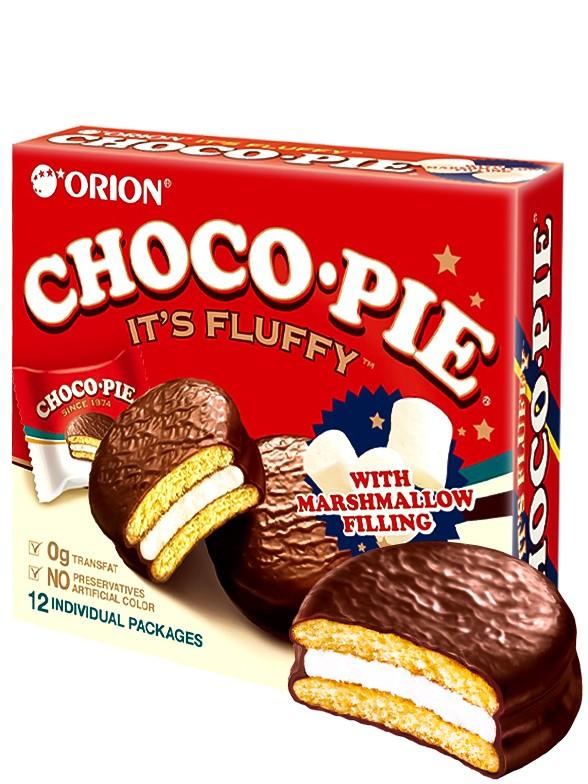 Choco Pie Coreano Relleno de Crema de Nube   Family Box 12
