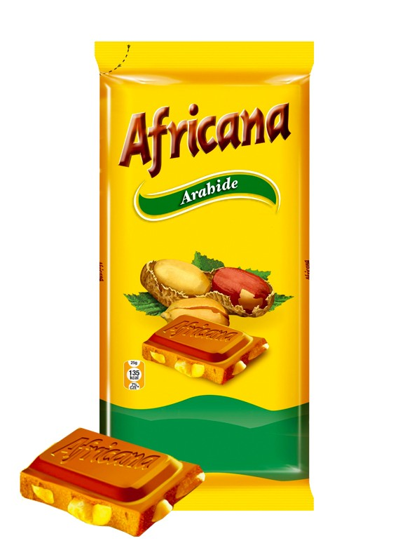 Chocolate Africana con Cacahuetes 90 grs