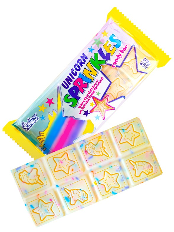 Tableta de Chocolate Blanco con Confeti de Colores | Magic Unicorn 120 grs.