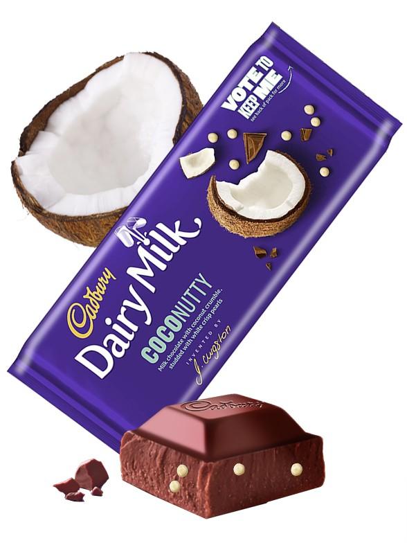 Chocolate Cadbury con Coco y Perlas Blancas | Coconutty 105 grs.