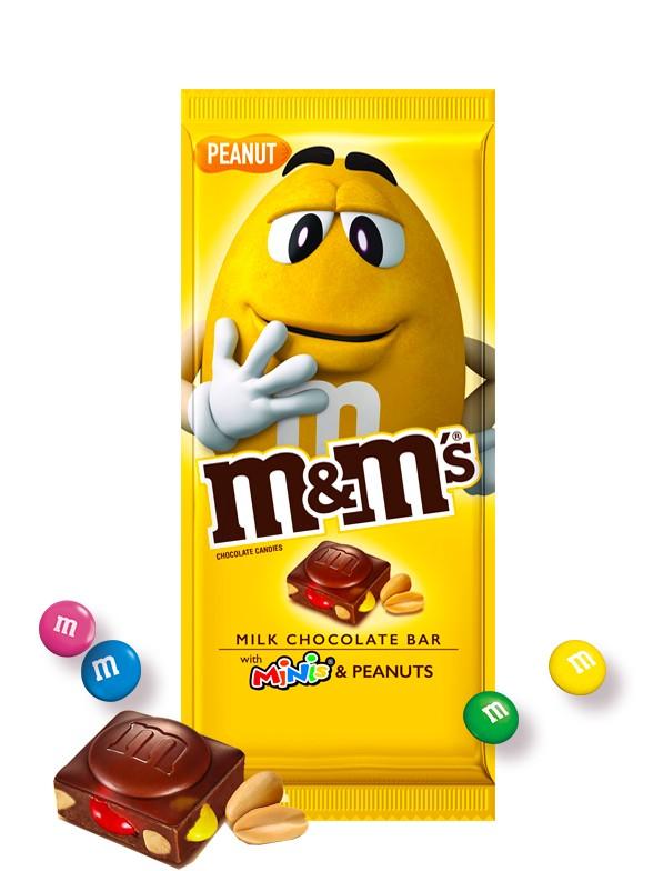 Tableta de Chocolate con Corazón M&M's y Cacahuete 165 grs