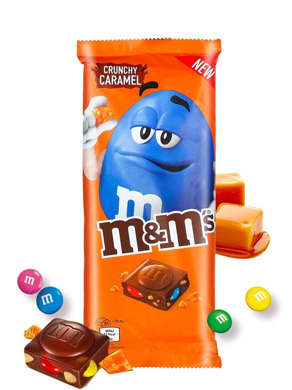 Tableta de Chocolate con Corazón M&M's y Caramelo Crujiente 165 grs.