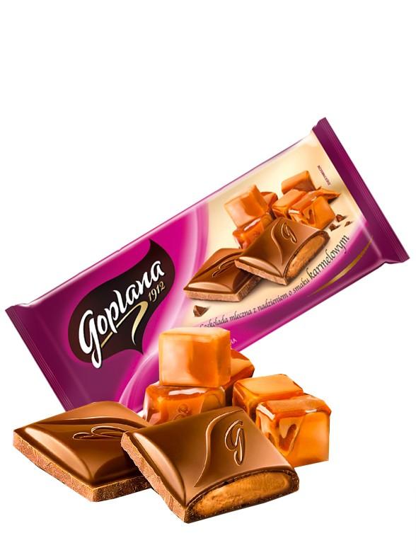 Chocolate Goplana con Leche relleno de Crema de Caramelo 95 grs