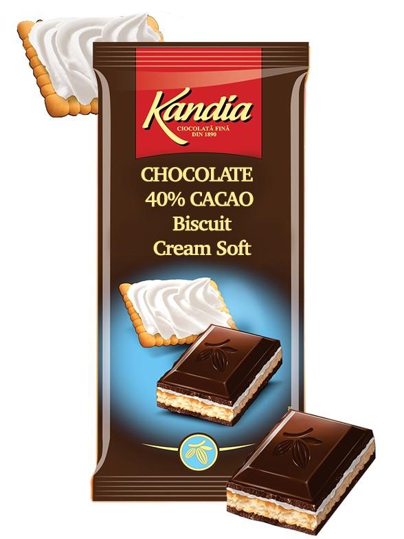 Chocolate Kandia de Galleta y Nata Fresca 115 grs | Pedido GRATIS!