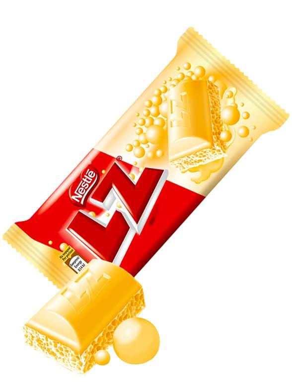 Chocolate Nestle LZ relleno de Mousse de Chocolate Blanco 35 grs
