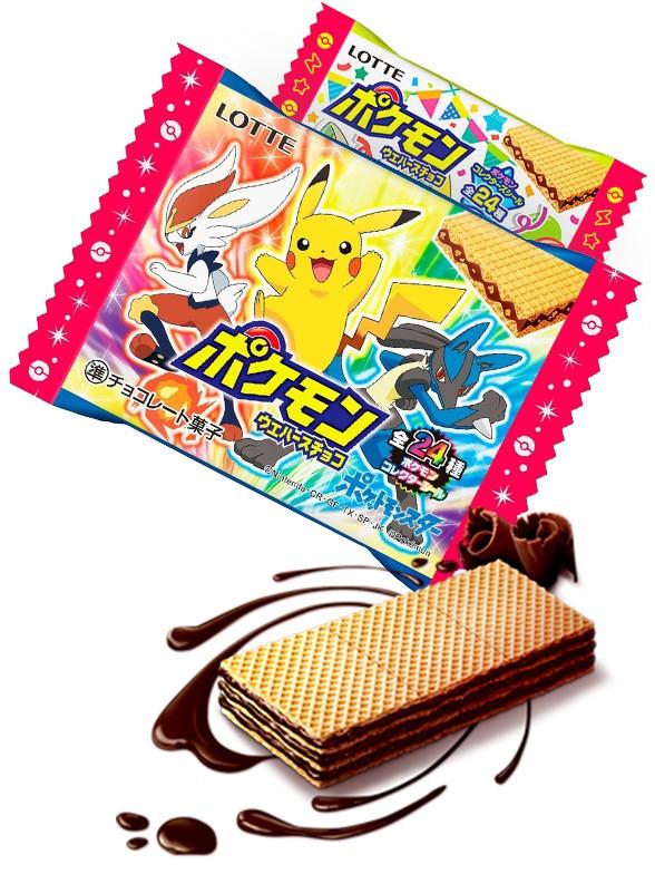 Wafers de Chocolate   Pokemon