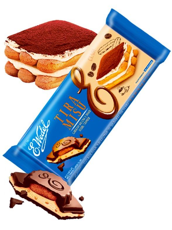 Gran Tableta Chocolate con Leche y Tiramisu | Wedel Lotte 293 grs | Pedido GRATIS!