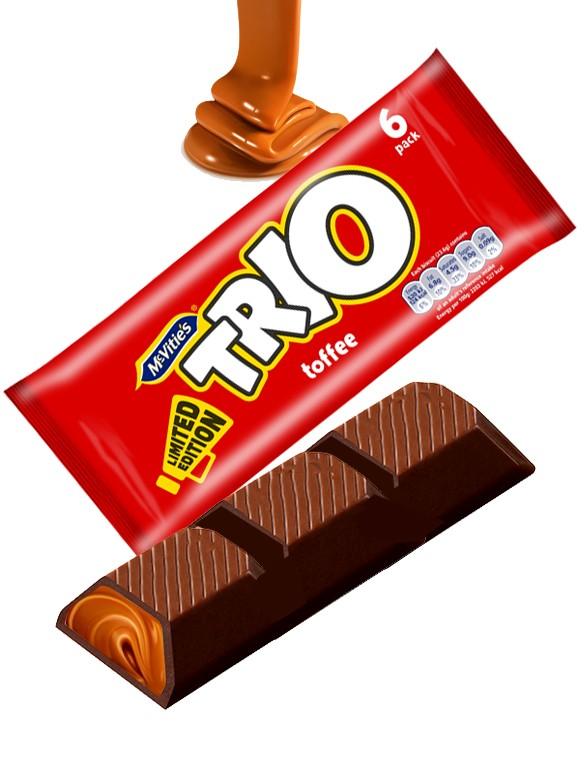 Chocolatinas de Galleta con Toffee | Trio | MULTI PACK 138 grs.