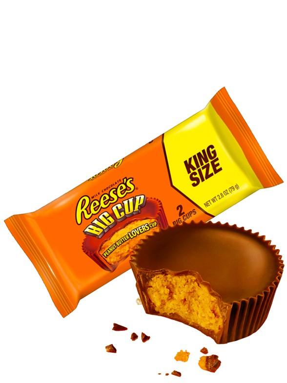 Chocolatinas 2 Big Cups Reese´s rellenas de Crema de Cacahuete | King Size 79 grs