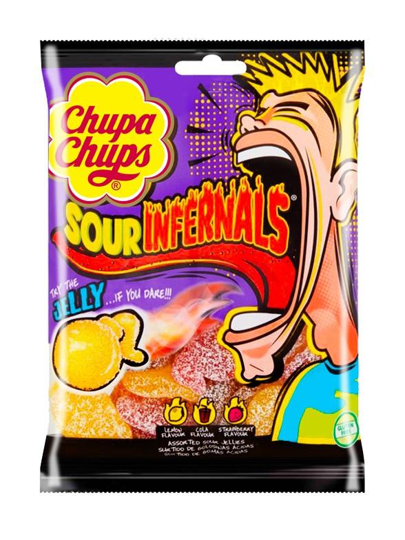 Gominolas  Acidas Sour Infernals Chupa Chups 150 grs.