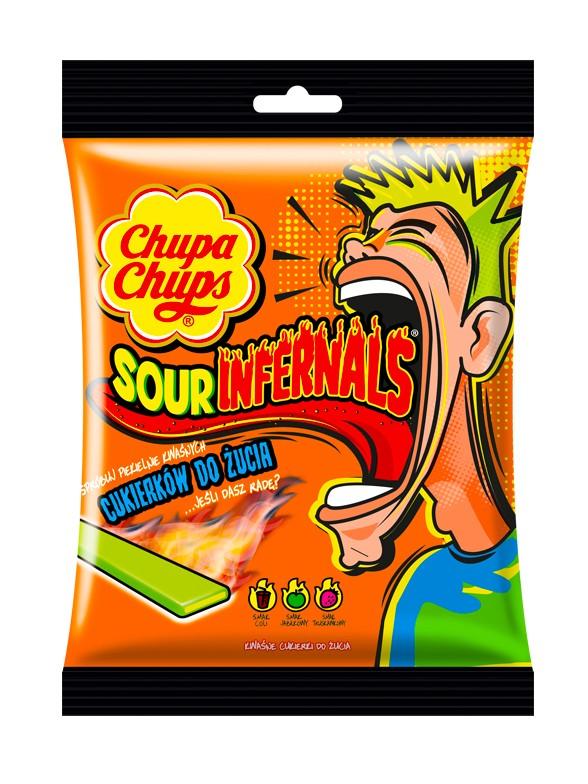 Lenguas Masticables Acidas Sour Infernals Chupa Chups 120 grs.