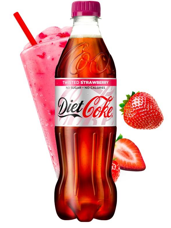Coca Cola DIET Sabor Fresa 500 ml.