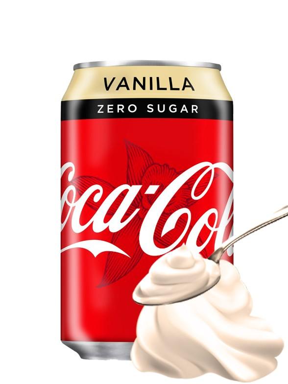 Coca Cola Vainilla Zero 330 ml   Nuevo Diseño
