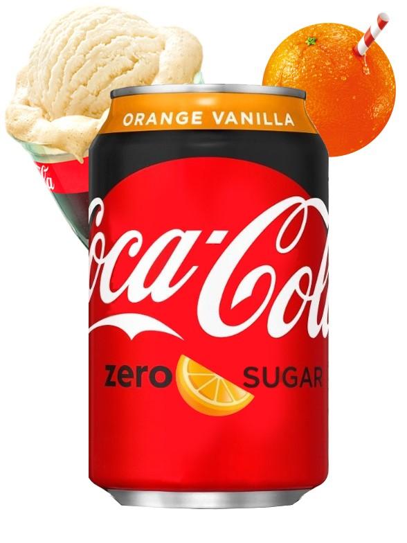 Coca Cola Naranja Vainilla ZERO | USA 355 ml