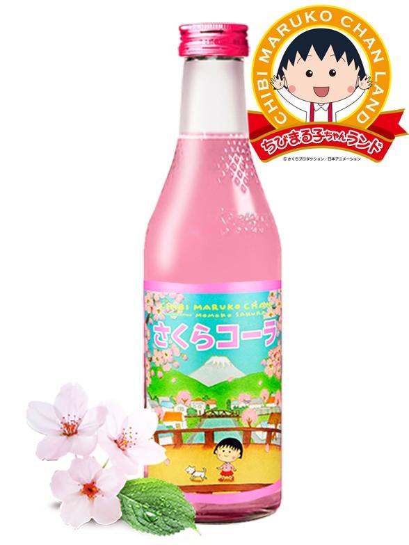 Chibi Maruko-Chan Sakura Cola Japonesa | Botella Vidrio 240 ml.