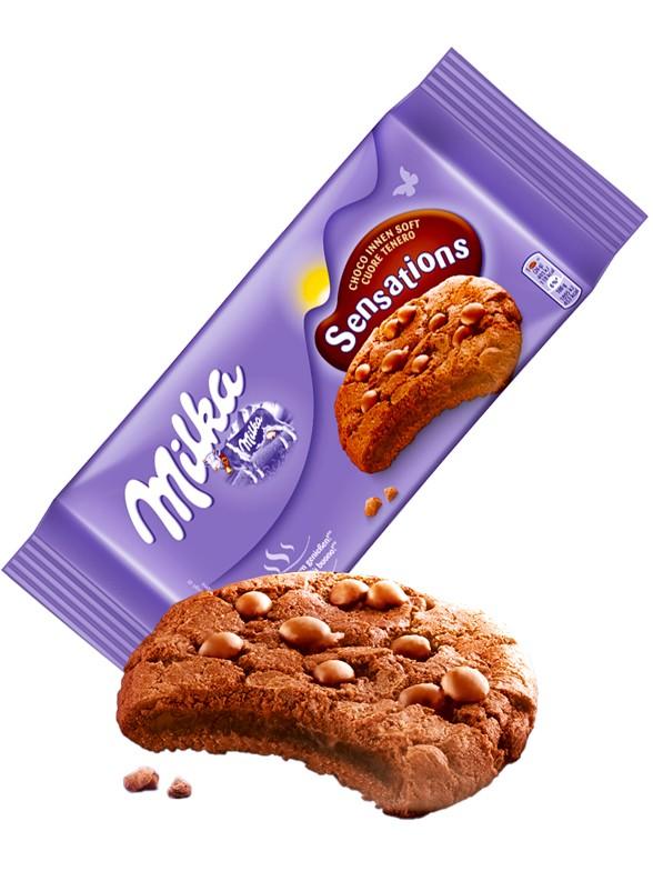 Cookies de Triple Chocolate Milka 156 grs.
